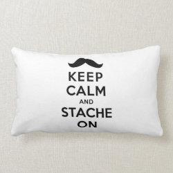 Throw Pillow Lumbar 13' x 21' with Keep Calm and Stach On design