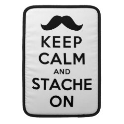 Macbook Air Sleeve with Keep Calm and Stache On design