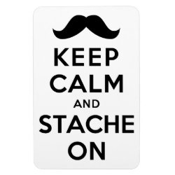 4'x6' Photo Magnet with Keep Calm and Stach On design