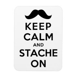 3'x4' Photo Magnet with Keep Calm and Stache On design