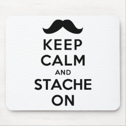 Mousepad with Keep Calm and Stach On design
