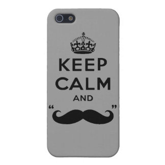 Keep Calm and stache on mustache funny facial hair iPhone 5 Cover