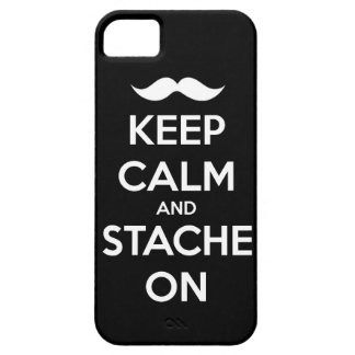 Keep Calm and stache on mustache funny facial hair iPhone SE/5/5s Case