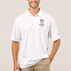 Men's Nike Dri-FIT Pique Polo Shirt with Keep Calm and Stach On design