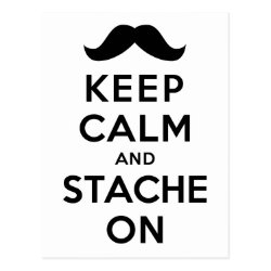 Postcard with Keep Calm and Stache On design