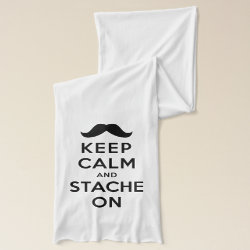 Jersey Scarf with Keep Calm and Stache On design