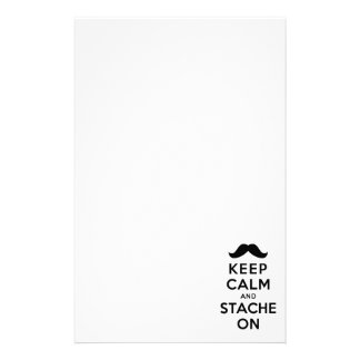 Keep Calm and Stache On Stationery