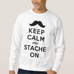 Men's Basic Sweatshirt with Keep Calm and Stache On design