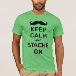 Men's Basic American Apparel T-Shirt with Keep Calm and Stach On design
