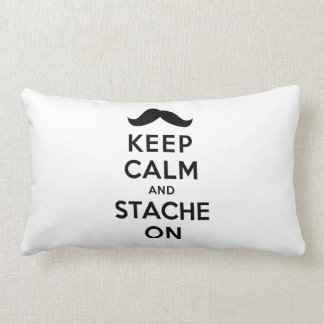 Keep Calm and Stache On Throw Pillow