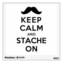 Walls 360 Custom Wall Decal with Keep Calm and Stach On design