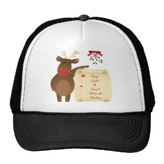 Keep Calm and Stand Under the Mistletoe Hat
