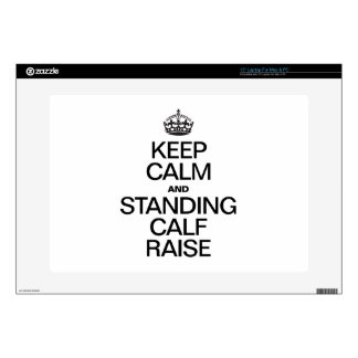 "KEEP CALM AND STANDING CALF RAISE 15"" LAPTOP DECALS"
