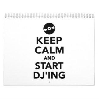 Keep calm and start DJ Calendar