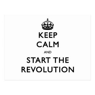 Keep Calm And Start The Revolution Postcard