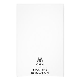 Keep Calm And Start The Revolution Stationery