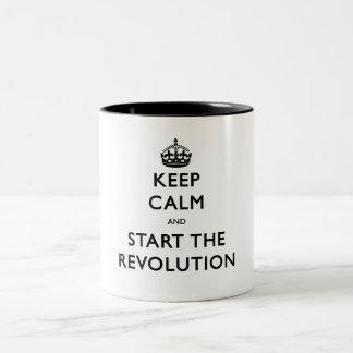 Keep Calm And Start The Revolution Two-Tone Coffee Mug