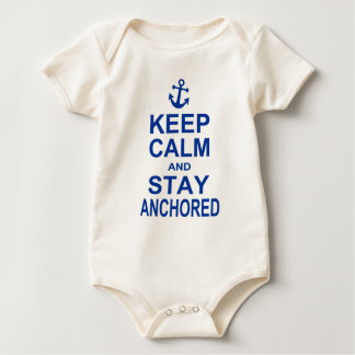 Keep calm and stay anchored baby bodysuit