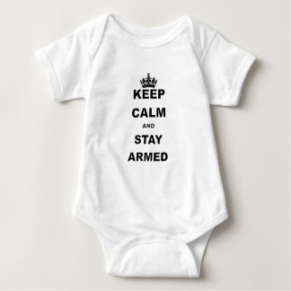 KEEP CALM AND STAY ARMED.png Baby Bodysuit