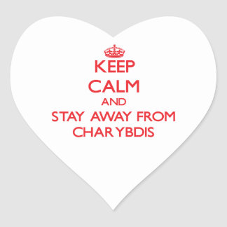Keep calm and stay away from Charybdis Heart Stickers