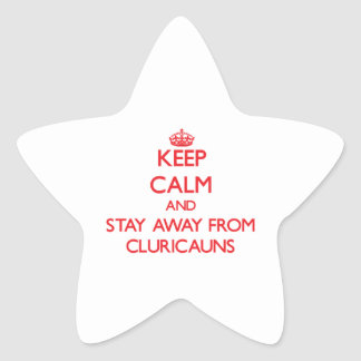 Keep calm and stay away from Cluricauns Star Stickers