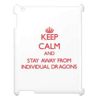 Keep calm and stay away from Individual Dragons iPad Case
