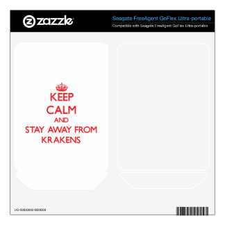 Keep calm and stay away from Krakens Skin For FreeAgent GoFlex
