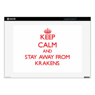 Keep calm and stay away from Krakens Laptop Decal