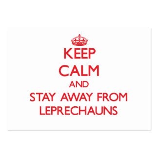 Keep calm and stay away from Leprechauns Business Card