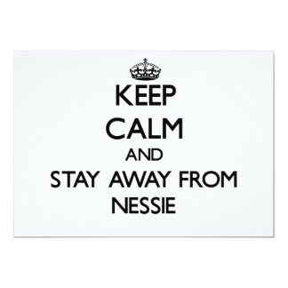 Keep calm and stay away from Nessie 5x7 Paper Invitation Card