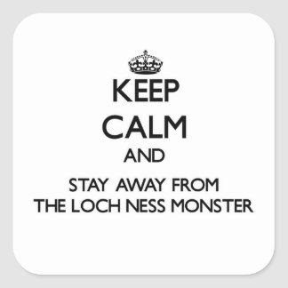 Keep calm and stay away from The Loch Ness Monster Stickers