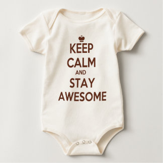 KEEP CALM AND STAY AWESOME BABY BODYSUIT