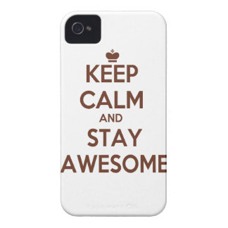 KEEP CALM AND STAY AWESOME Case-Mate iPhone 4 CASES