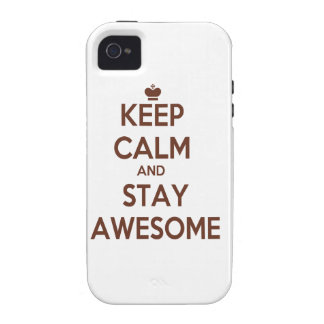 KEEP CALM AND STAY AWESOME iPhone 4/4S COVER