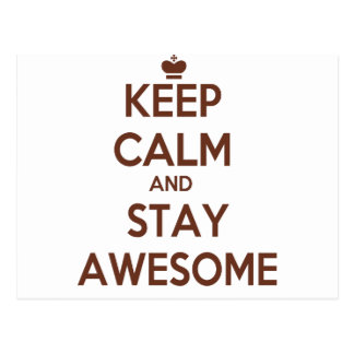 KEEP CALM AND STAY AWESOME POSTCARD