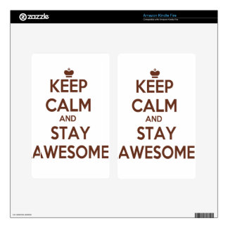 KEEP CALM AND STAY AWESOME KINDLE FIRE DECAL