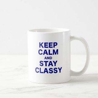 Keep Calm and Stay Classy Coffee Mug