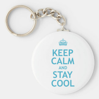 Keep Calm and Stay Cool Basic Round Button Keychain