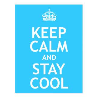 Keep Calm and Stay Cool Postcard