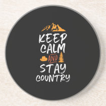 Keep Calm and Stay Country Vintage Retro Coaster