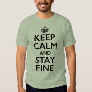 Keep Calm and Stay Fine T-Shirt
