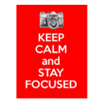 Keep Calm and Stay Focused Postcard
