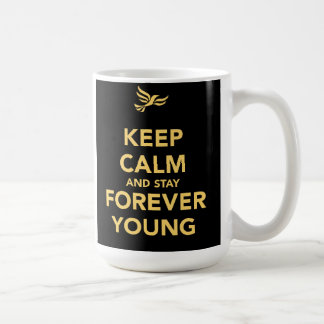 Keep Calm And Stay Forever Young Classic White Coffee Mug