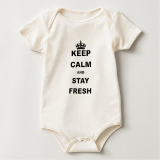 KEEP CALM AND STAY FRESH.png Baby Bodysuit