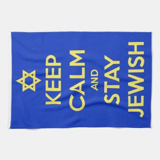 Keep Calm and Stay Jewish Towel