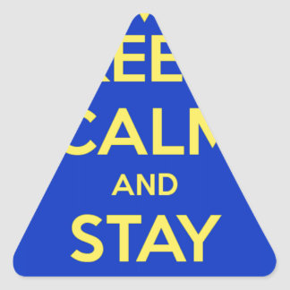 Keep Calm and Stay Jewish Triangle Sticker