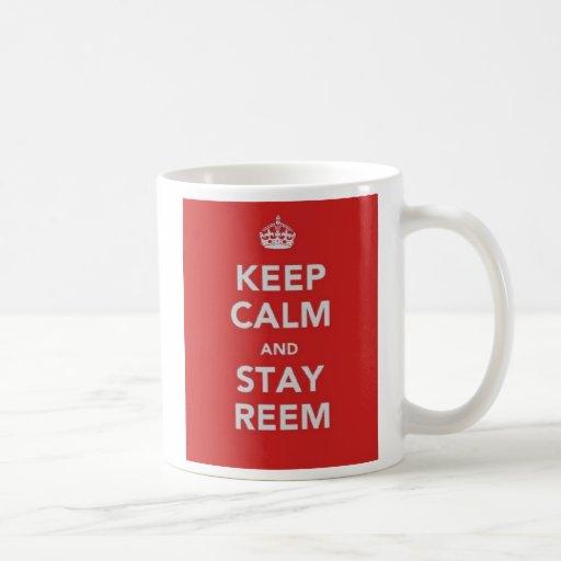 Keep Calm and Stay Reem Classic White Coffee Mug