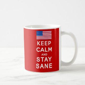 KEEP CALM AND STAY SANE Tshirts Coffee Mug