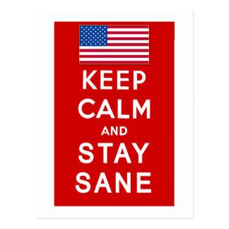 KEEP CALM AND STAY SANE Tshirts Postcard