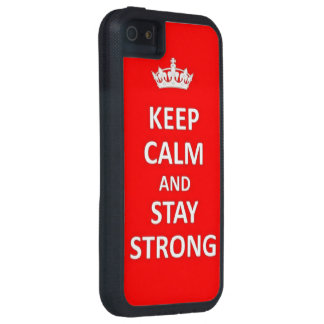 Keep calm and stay strong case for iPhone SE/5/5s